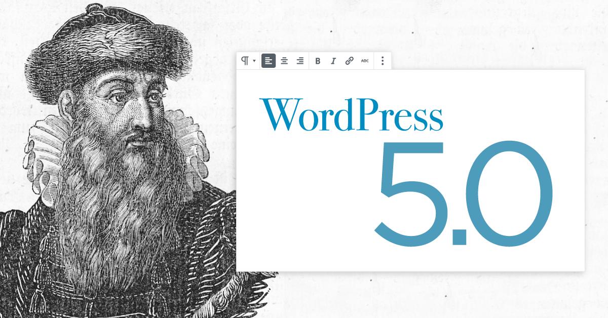 وردپرس نسخه جدید wordpress 5.0